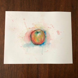 Apple print by Valerie Schoolcraft (small or large)